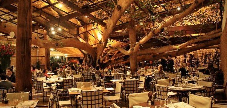 vue de la salle intérieur du restaurant Rubayat à Sao Paulo.